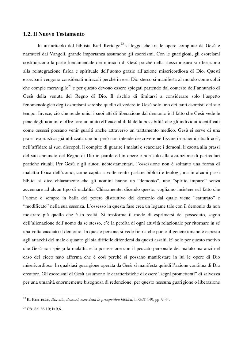 Anteprima della tesi: L'esorcismo. Confronto storico e interpretazione teologica dei rituali esorcistici per ossessi, Pagina 11
