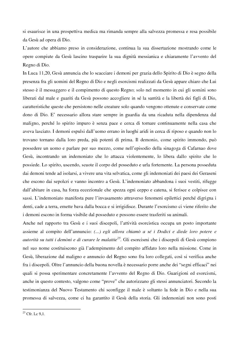 Anteprima della tesi: L'esorcismo. Confronto storico e interpretazione teologica dei rituali esorcistici per ossessi, Pagina 12