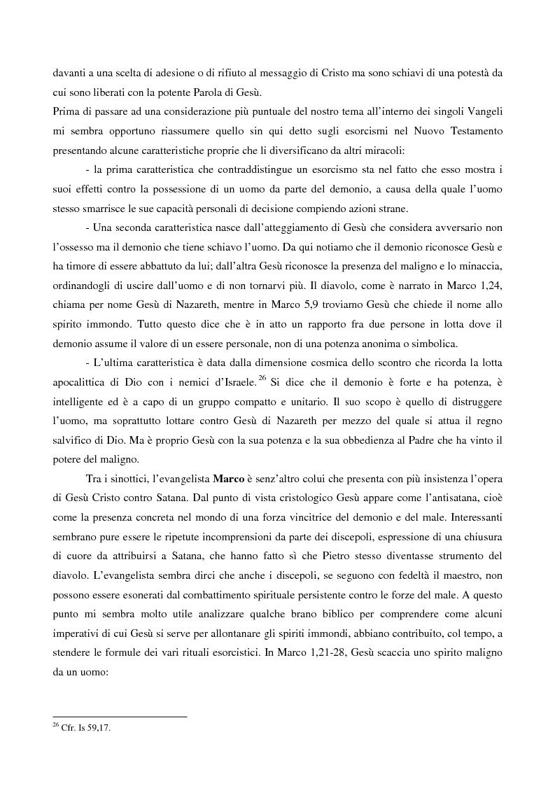 Anteprima della tesi: L'esorcismo. Confronto storico e interpretazione teologica dei rituali esorcistici per ossessi, Pagina 13