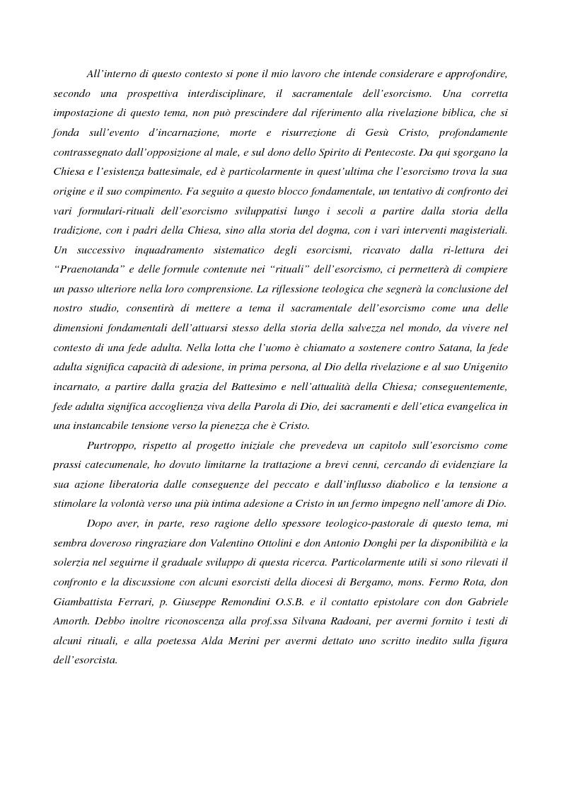 Anteprima della tesi: L'esorcismo. Confronto storico e interpretazione teologica dei rituali esorcistici per ossessi, Pagina 2