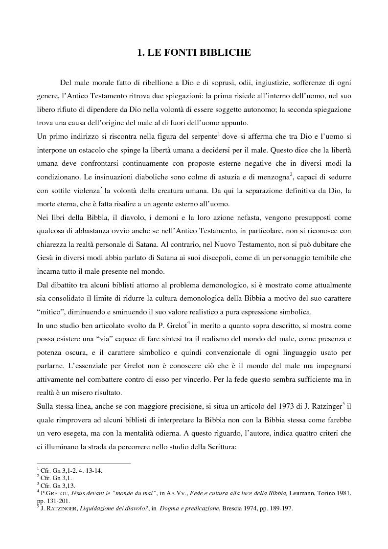 Anteprima della tesi: L'esorcismo. Confronto storico e interpretazione teologica dei rituali esorcistici per ossessi, Pagina 5
