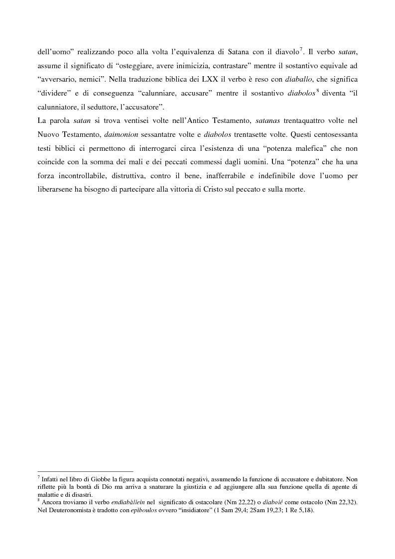 Anteprima della tesi: L'esorcismo. Confronto storico e interpretazione teologica dei rituali esorcistici per ossessi, Pagina 7