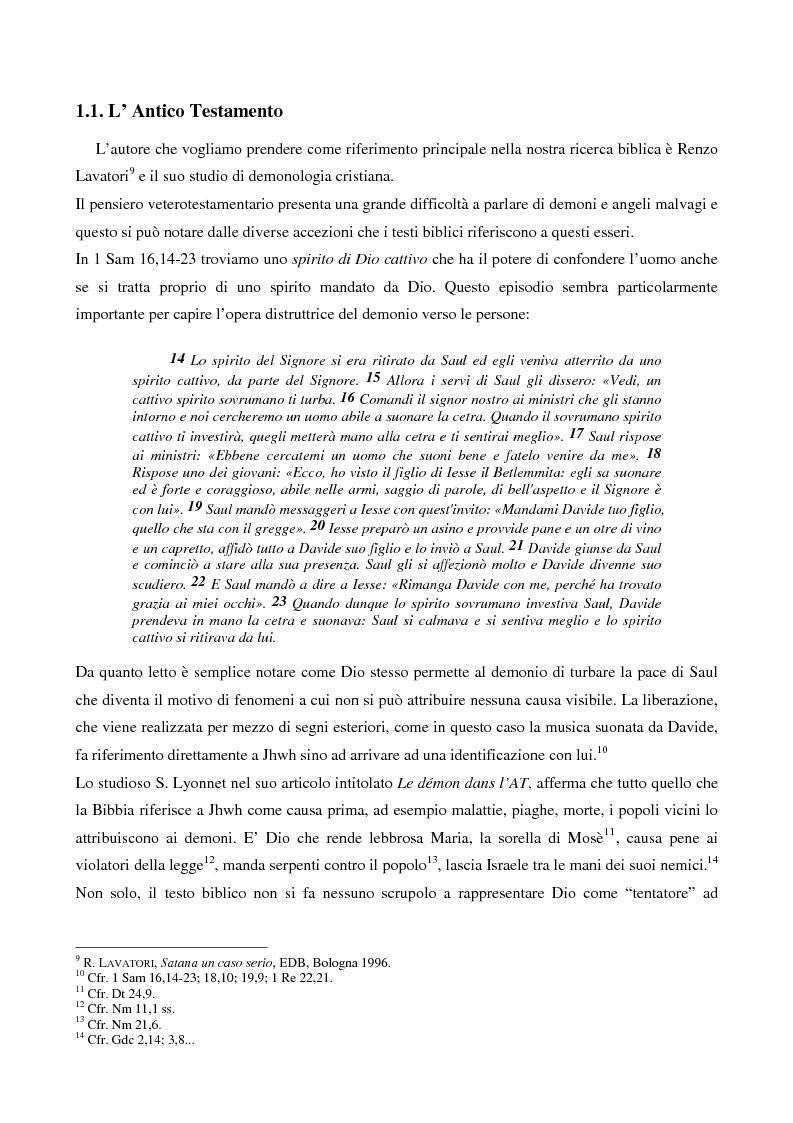 Anteprima della tesi: L'esorcismo. Confronto storico e interpretazione teologica dei rituali esorcistici per ossessi, Pagina 8