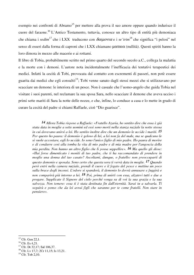 Anteprima della tesi: L'esorcismo. Confronto storico e interpretazione teologica dei rituali esorcistici per ossessi, Pagina 9