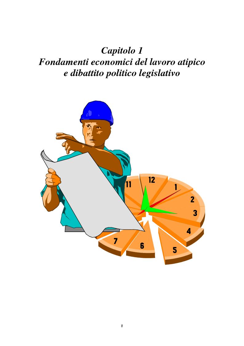 Anteprima della tesi: I contratti di lavoro atipici: conseguenze sulla domanda di lavoro, Pagina 1