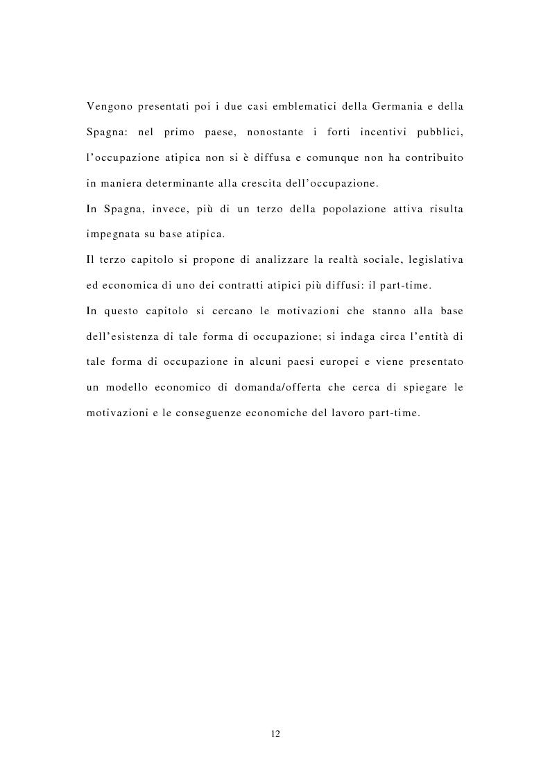 Anteprima della tesi: I contratti di lavoro atipici: conseguenze sulla domanda di lavoro, Pagina 5