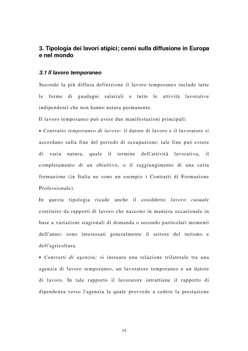 Anteprima della tesi: I contratti di lavoro atipici: conseguenze sulla domanda di lavoro, Pagina 8