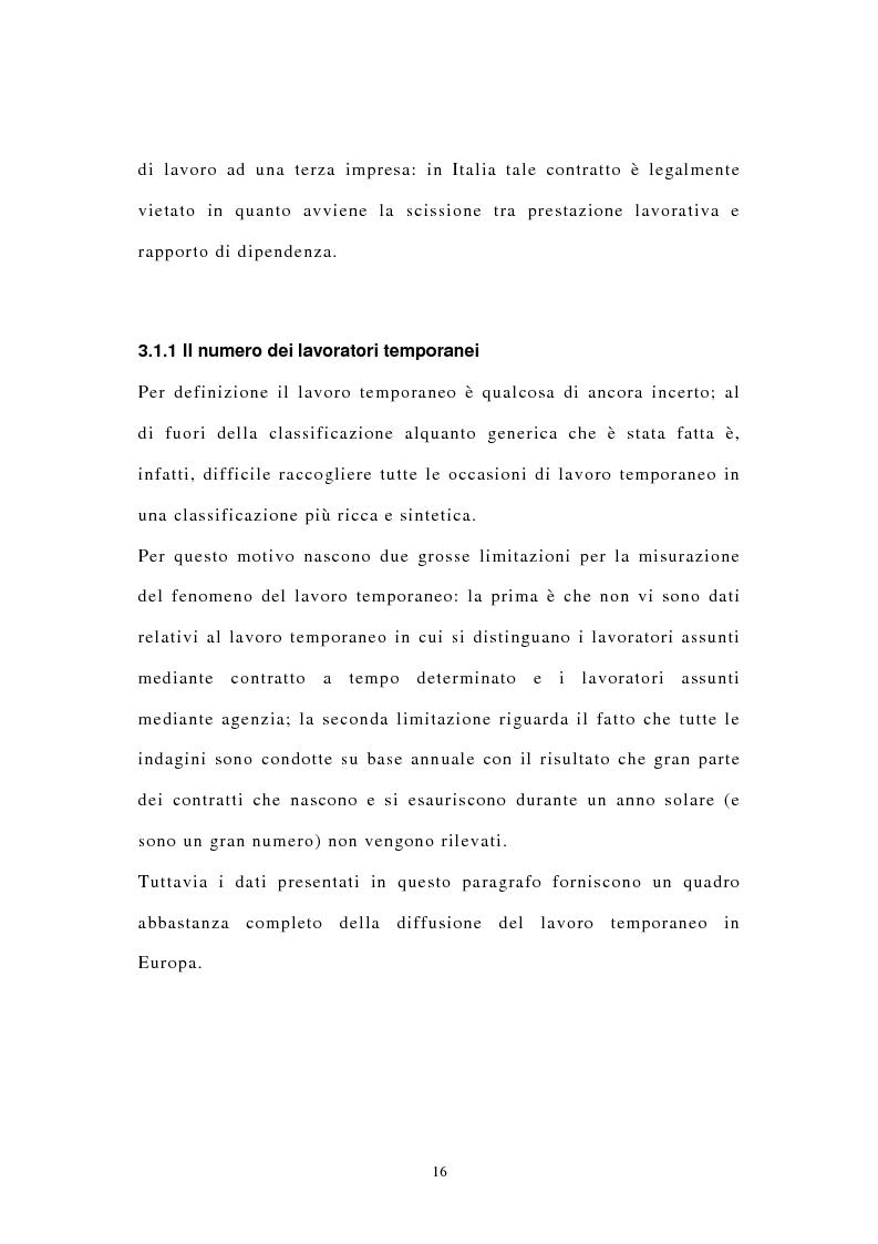 Anteprima della tesi: I contratti di lavoro atipici: conseguenze sulla domanda di lavoro, Pagina 9