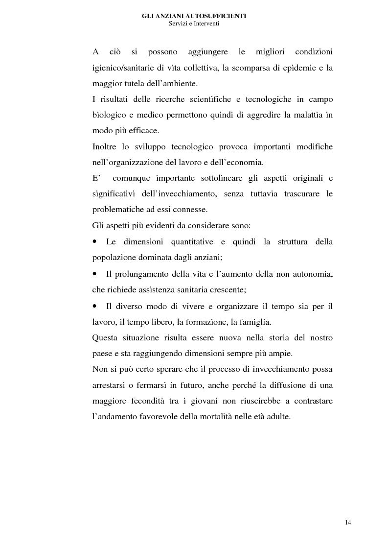 Anteprima della tesi: Gli anziani autosufficienti: servizi e interventi, Pagina 10