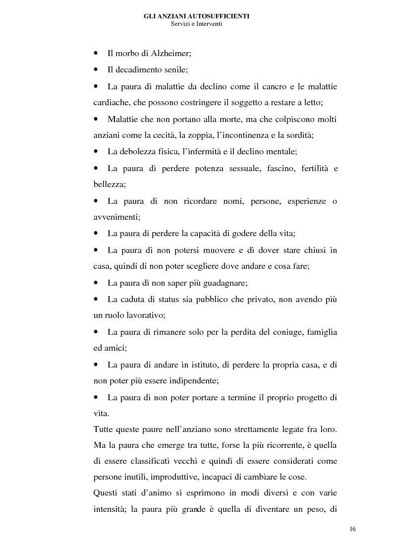 Anteprima della tesi: Gli anziani autosufficienti: servizi e interventi, Pagina 12