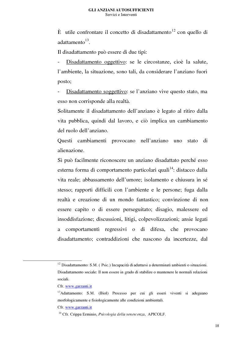 Anteprima della tesi: Gli anziani autosufficienti: servizi e interventi, Pagina 14