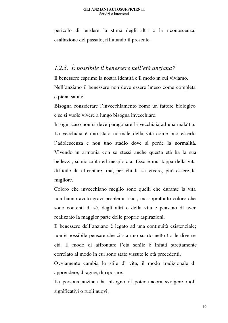 Anteprima della tesi: Gli anziani autosufficienti: servizi e interventi, Pagina 15