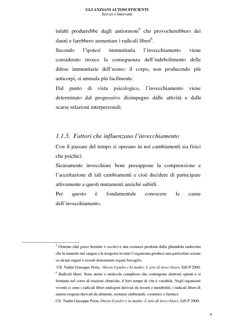 Anteprima della tesi: Gli anziani autosufficienti: servizi e interventi, Pagina 4