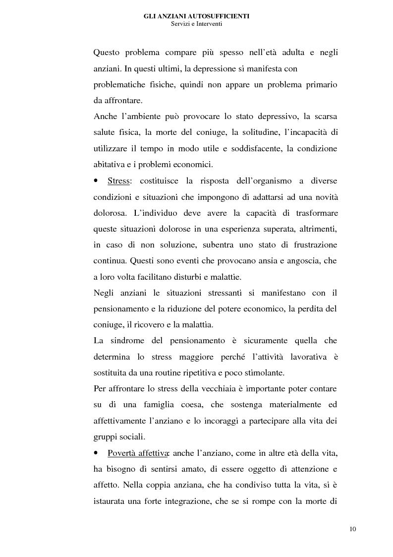 Anteprima della tesi: Gli anziani autosufficienti: servizi e interventi, Pagina 6