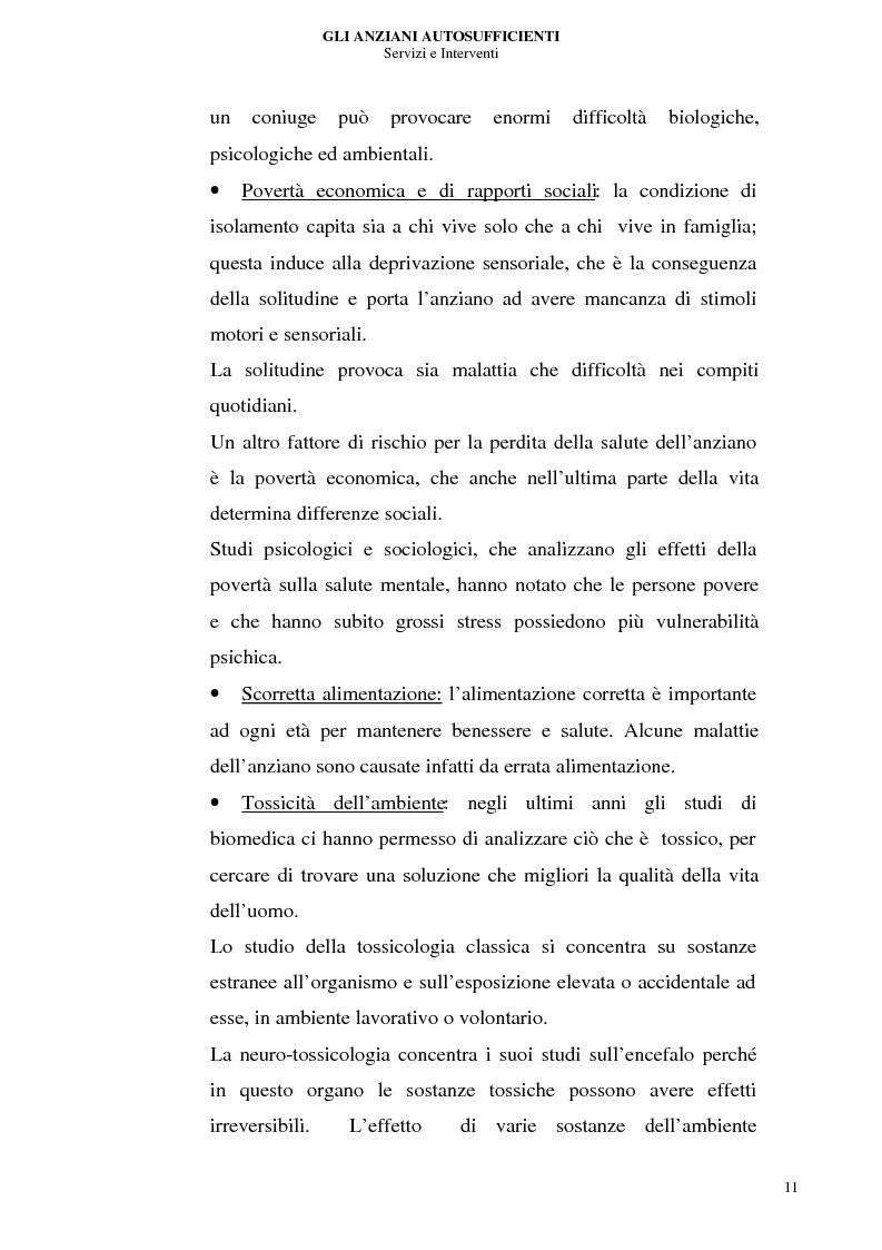 Anteprima della tesi: Gli anziani autosufficienti: servizi e interventi, Pagina 7