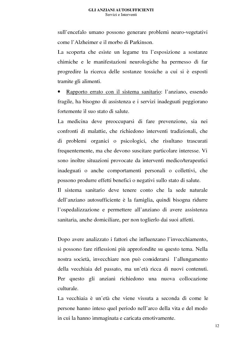 Anteprima della tesi: Gli anziani autosufficienti: servizi e interventi, Pagina 8