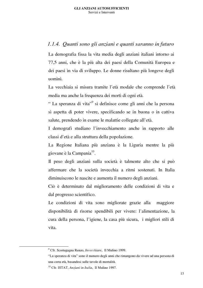 Anteprima della tesi: Gli anziani autosufficienti: servizi e interventi, Pagina 9