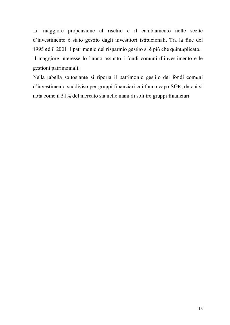 Anteprima della tesi: L'organizzazione e la gestione delle società di gestione del risparmio, Pagina 13