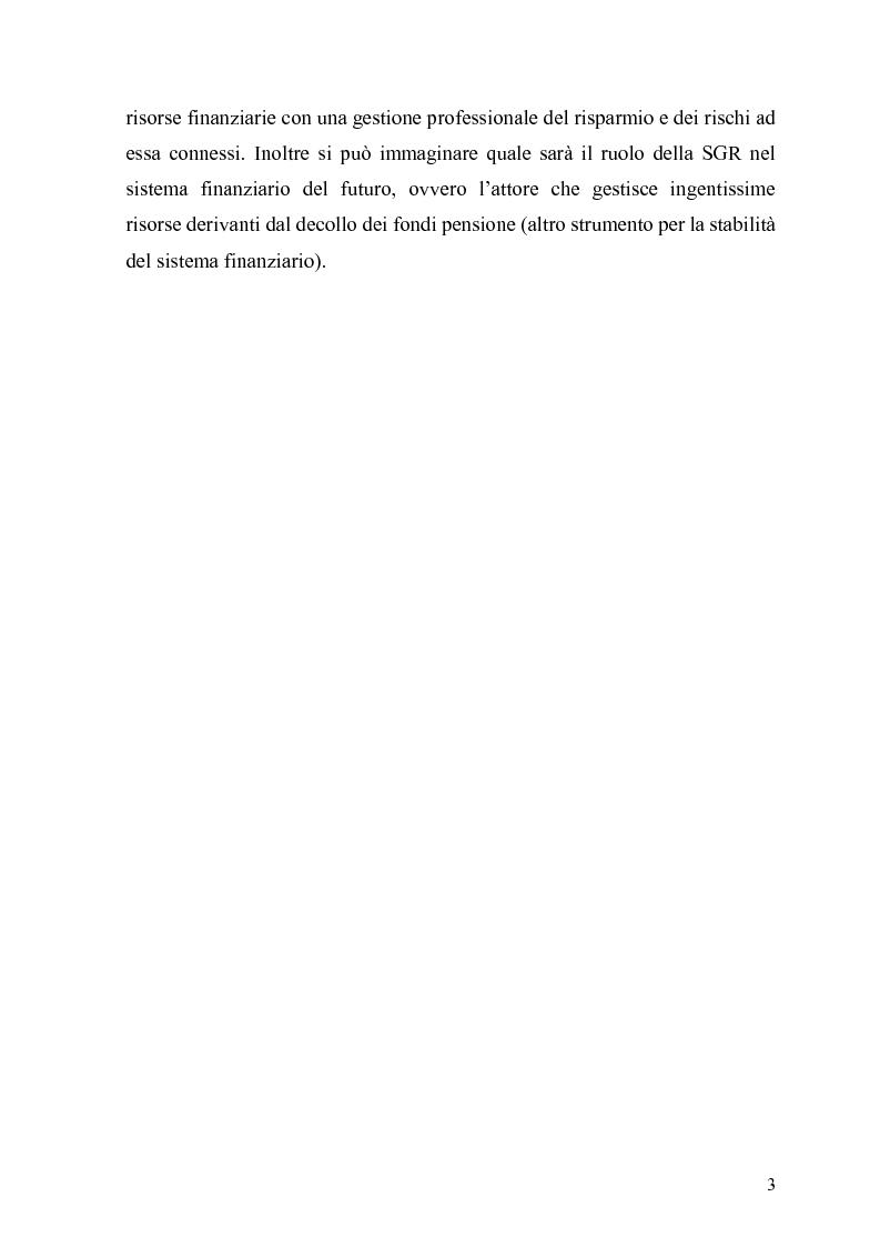 Anteprima della tesi: L'organizzazione e la gestione delle società di gestione del risparmio, Pagina 3