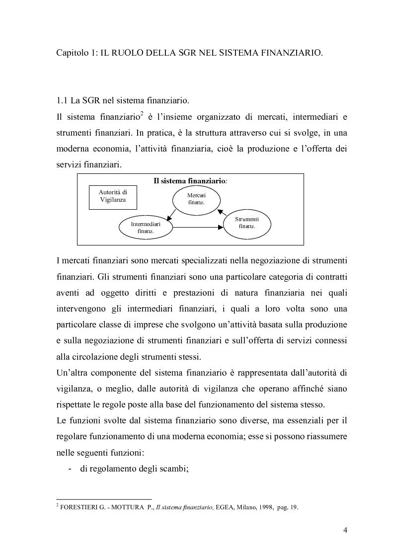 Anteprima della tesi: L'organizzazione e la gestione delle società di gestione del risparmio, Pagina 4
