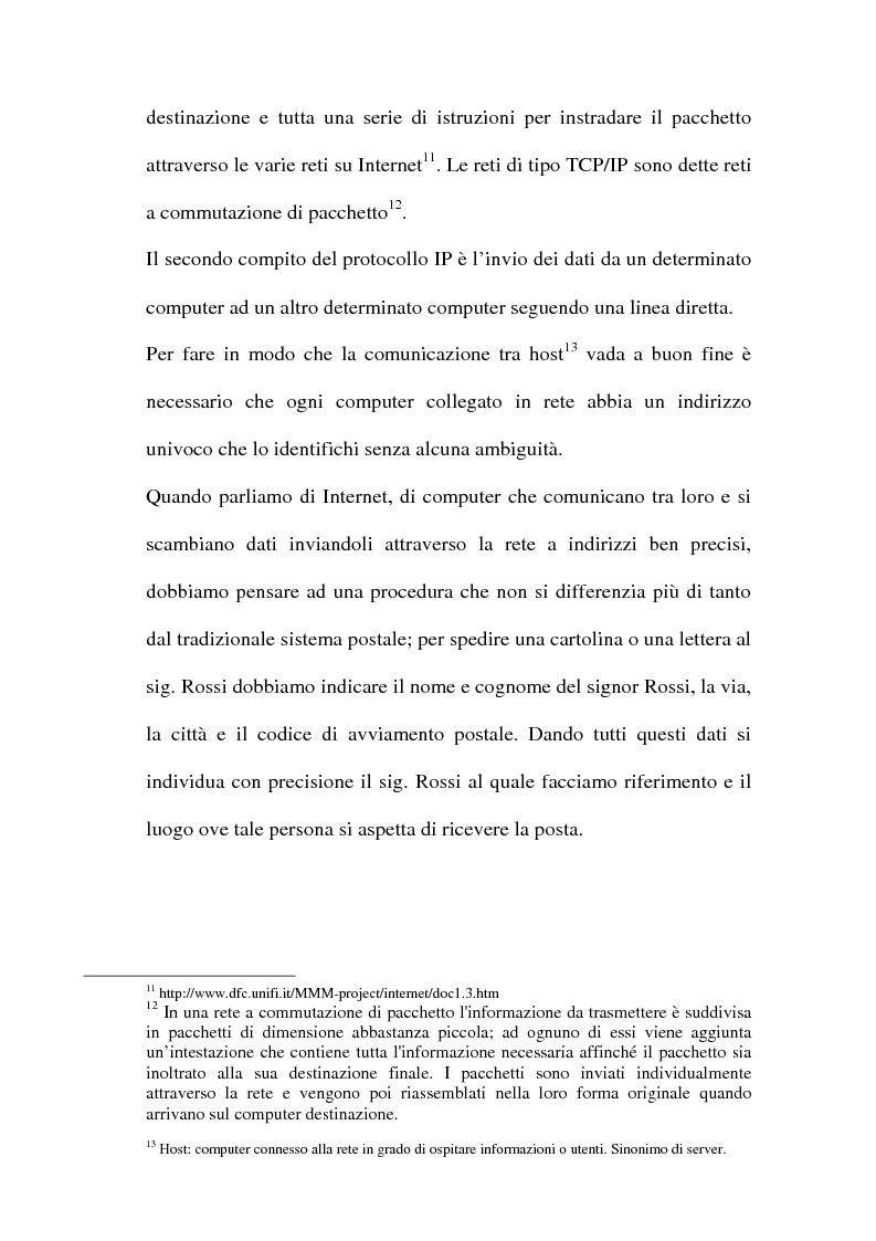 Anteprima della tesi: Domain name e la tutela del marchio, Pagina 10