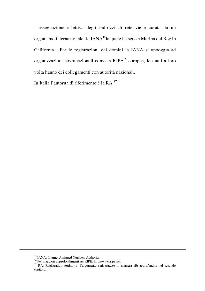 Anteprima della tesi: Domain name e la tutela del marchio, Pagina 12