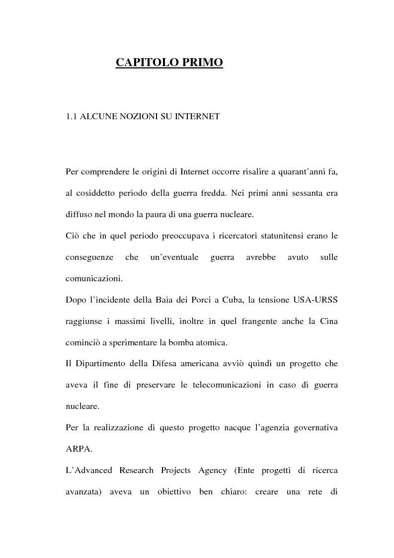 Anteprima della tesi: Domain name e la tutela del marchio, Pagina 4