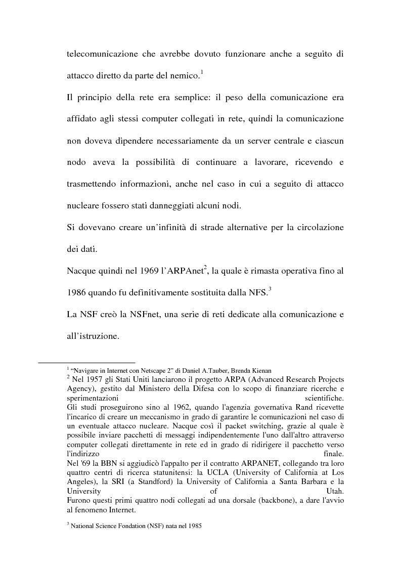 Anteprima della tesi: Domain name e la tutela del marchio, Pagina 5