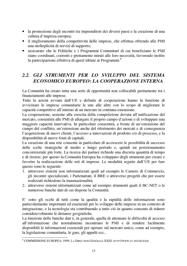 Anteprima della tesi: Le agevolazioni comunitarie alle piccole e medie imprese. Analisi dei risultati dell'applicazione della legge 488/92 in Italia e nel Veneto, Pagina 13
