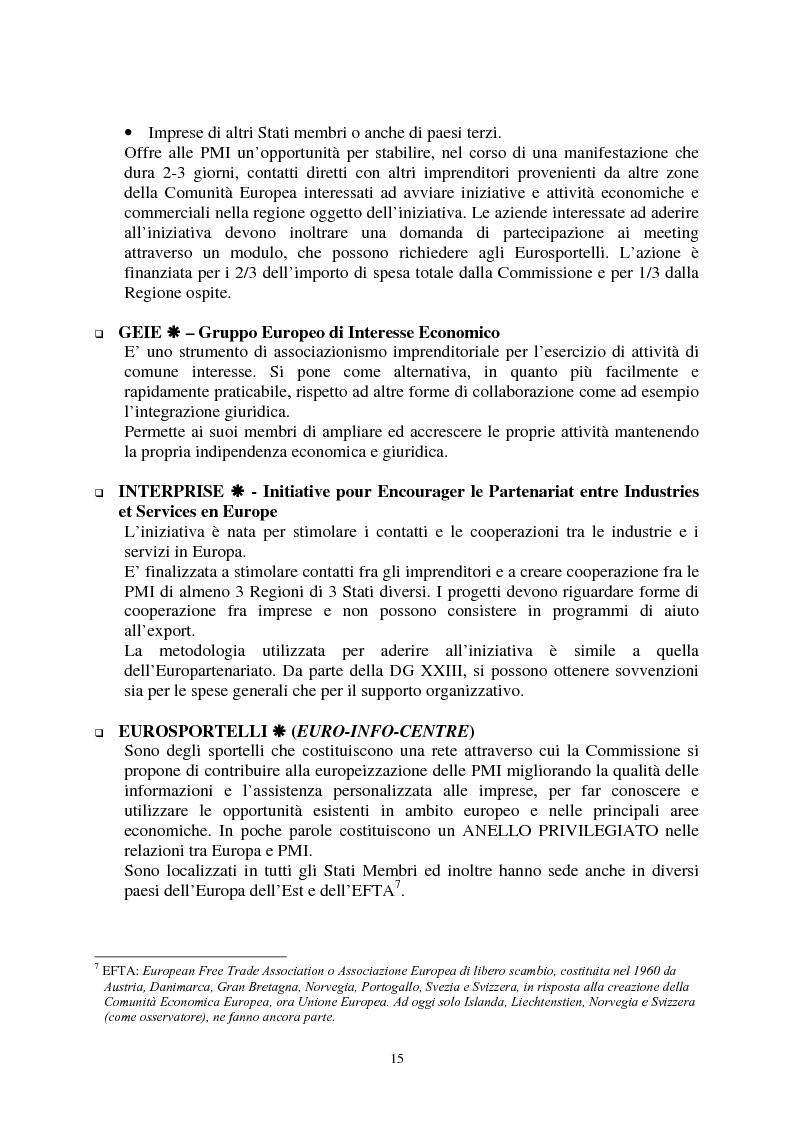 Anteprima della tesi: Le agevolazioni comunitarie alle piccole e medie imprese. Analisi dei risultati dell'applicazione della legge 488/92 in Italia e nel Veneto, Pagina 15