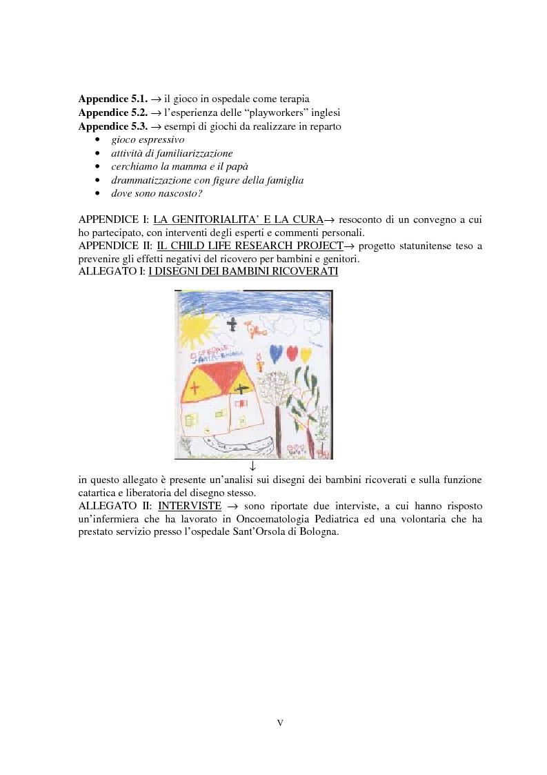 Anteprima della tesi: I problemi dei genitori di bambini oncologici di fronte alla malattia: ricerche e prospettive, Pagina 5