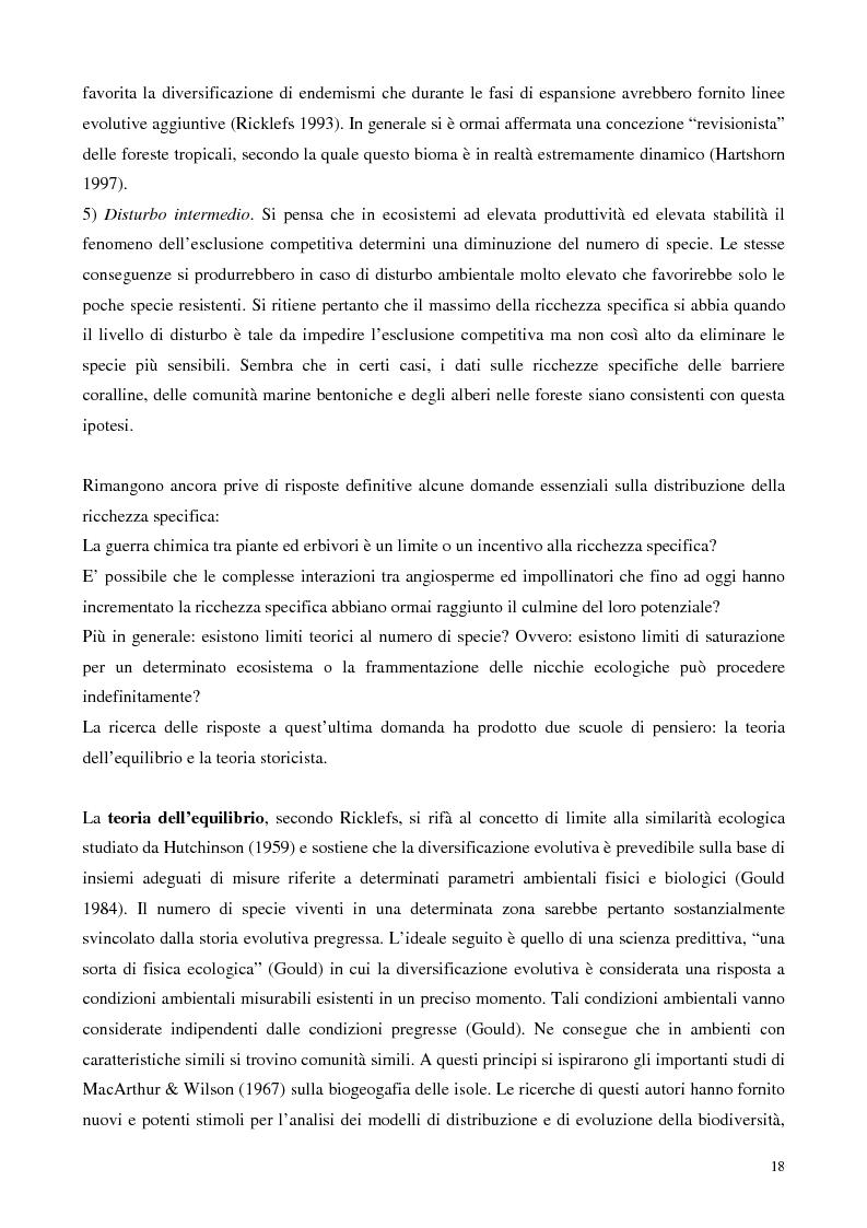 Anteprima della tesi: Biodiversità e biogeografia dei molluschi marini italiani: modelli di analisi a fini conservazionistici, Pagina 13
