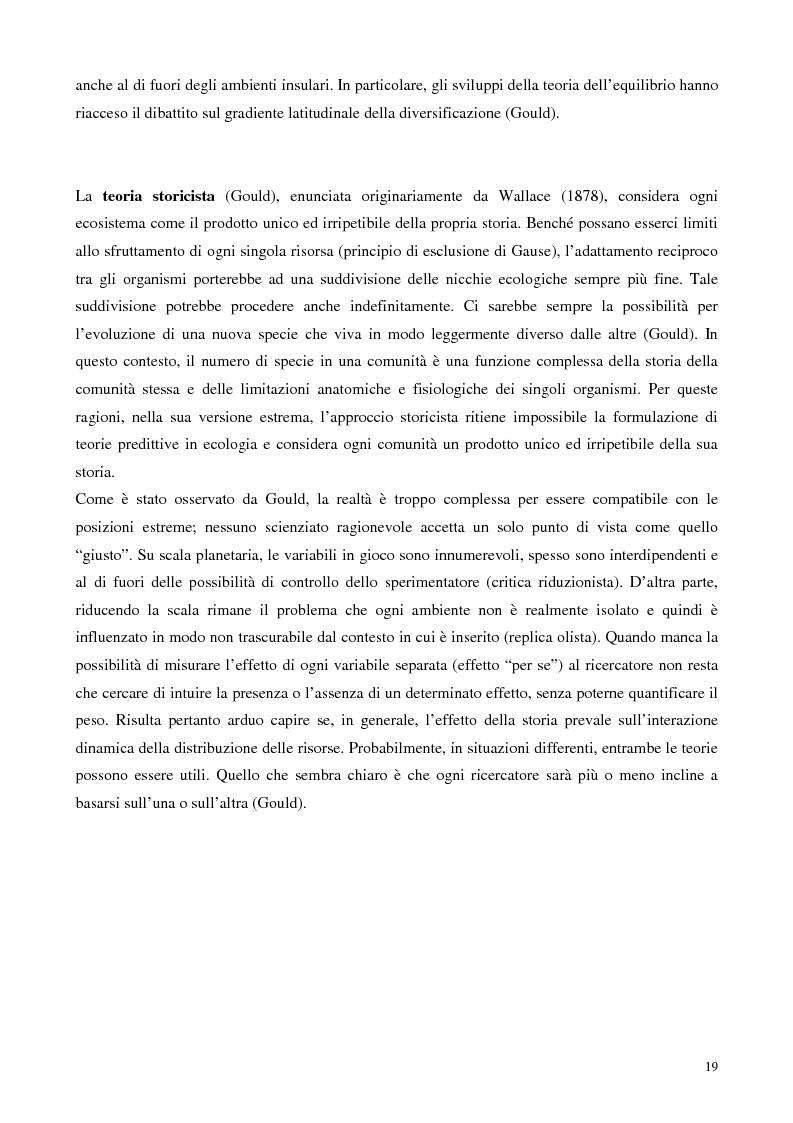 Anteprima della tesi: Biodiversità e biogeografia dei molluschi marini italiani: modelli di analisi a fini conservazionistici, Pagina 14