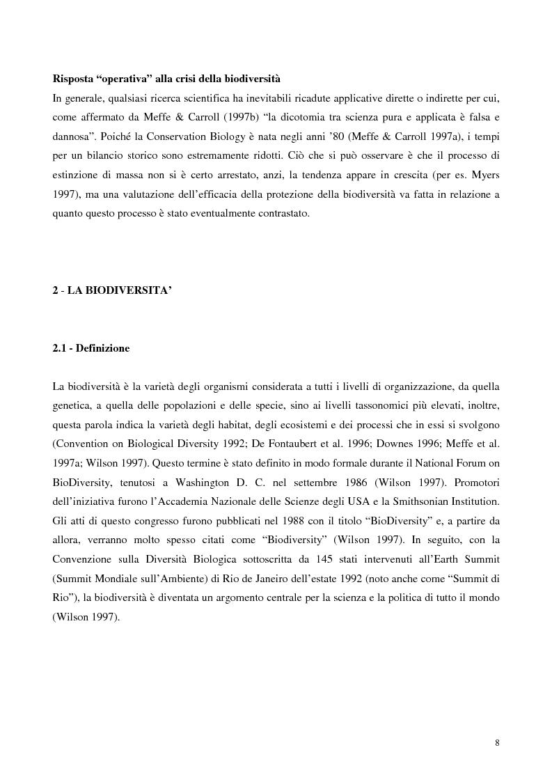 Anteprima della tesi: Biodiversità e biogeografia dei molluschi marini italiani: modelli di analisi a fini conservazionistici, Pagina 3