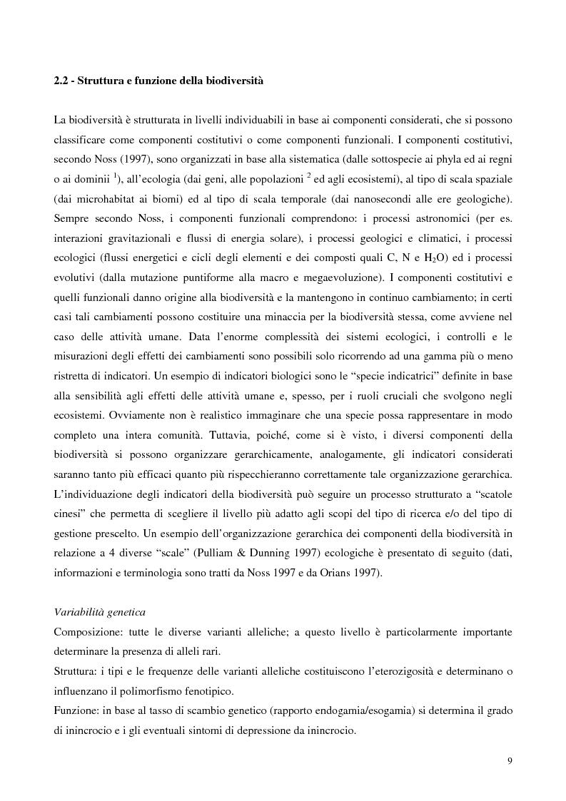 Anteprima della tesi: Biodiversità e biogeografia dei molluschi marini italiani: modelli di analisi a fini conservazionistici, Pagina 4