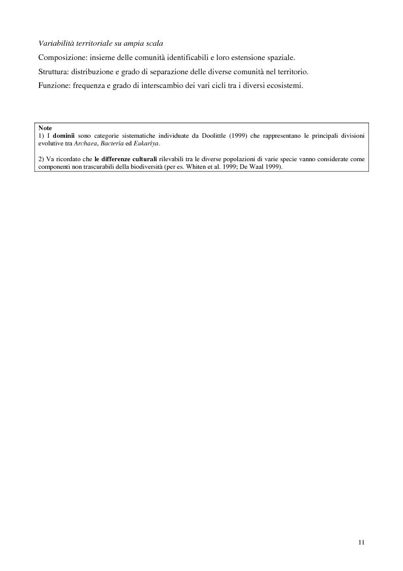 Anteprima della tesi: Biodiversità e biogeografia dei molluschi marini italiani: modelli di analisi a fini conservazionistici, Pagina 6