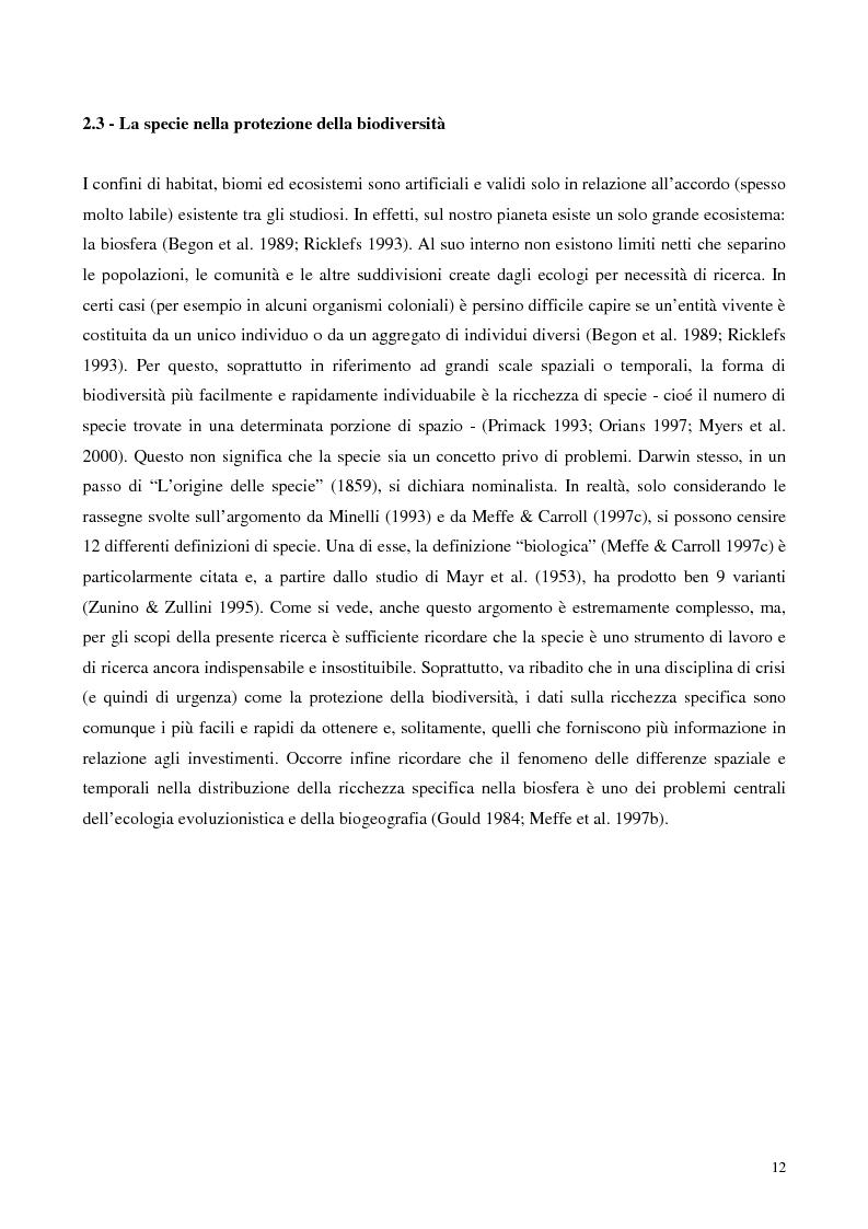 Anteprima della tesi: Biodiversità e biogeografia dei molluschi marini italiani: modelli di analisi a fini conservazionistici, Pagina 7
