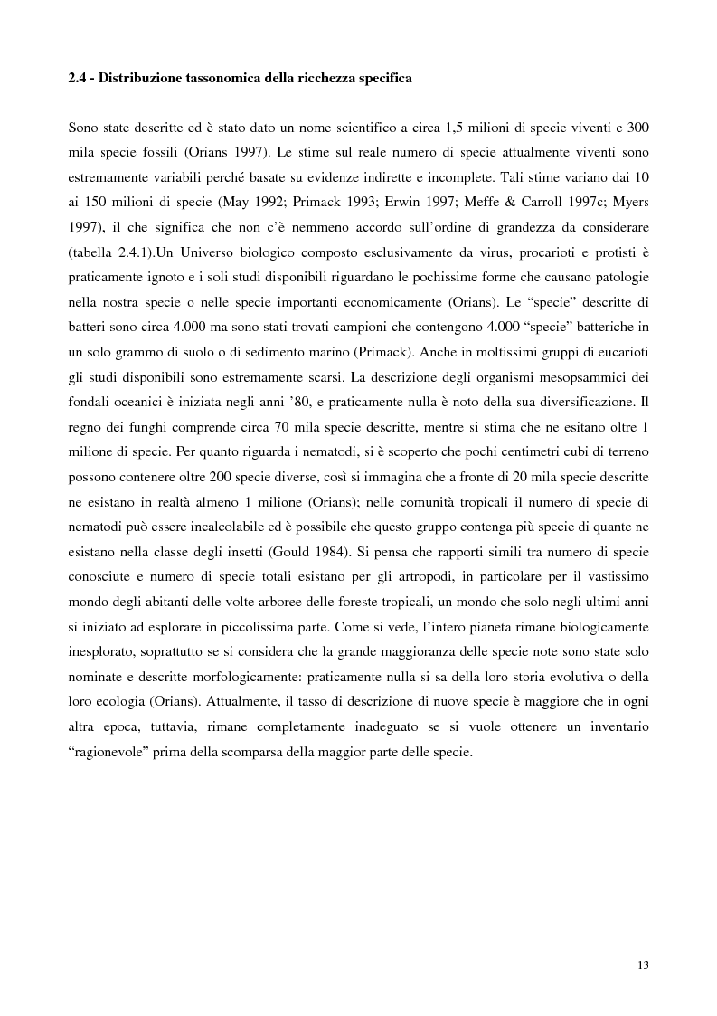 Anteprima della tesi: Biodiversità e biogeografia dei molluschi marini italiani: modelli di analisi a fini conservazionistici, Pagina 8