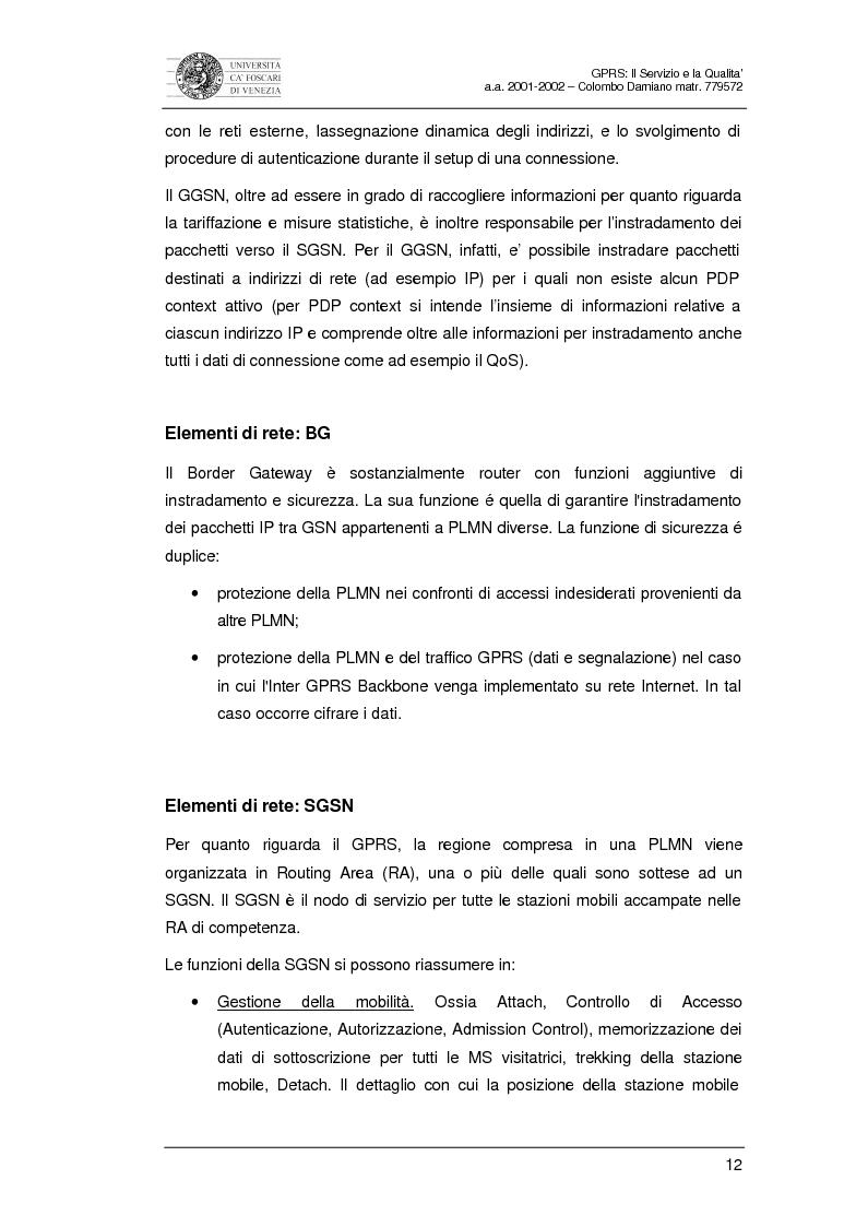 Anteprima della tesi: Gprs: il servizio e la qualità, Pagina 10