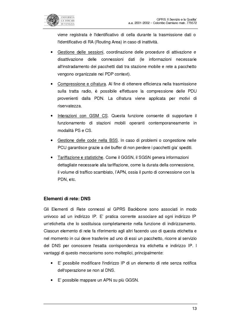 Anteprima della tesi: Gprs: il servizio e la qualità, Pagina 11