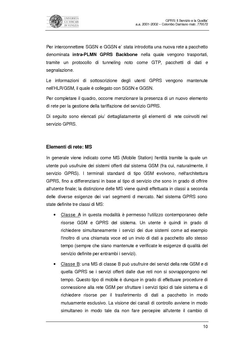Anteprima della tesi: Gprs: il servizio e la qualità, Pagina 8