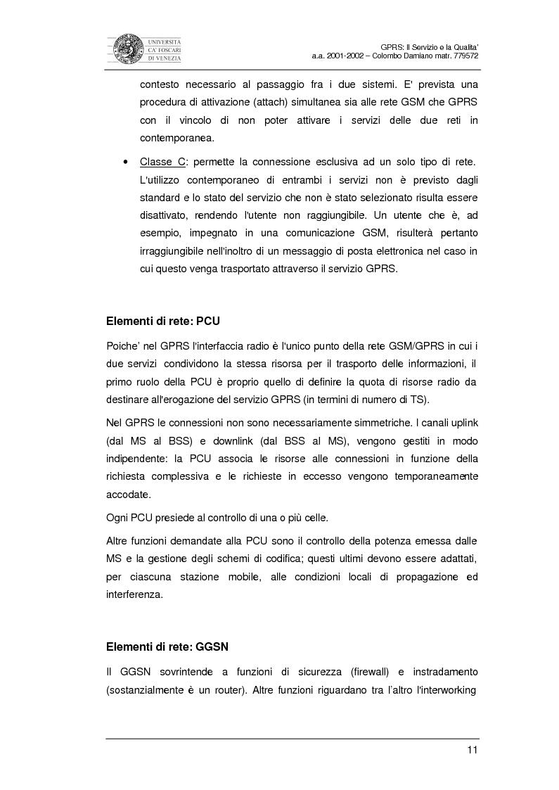 Anteprima della tesi: Gprs: il servizio e la qualità, Pagina 9