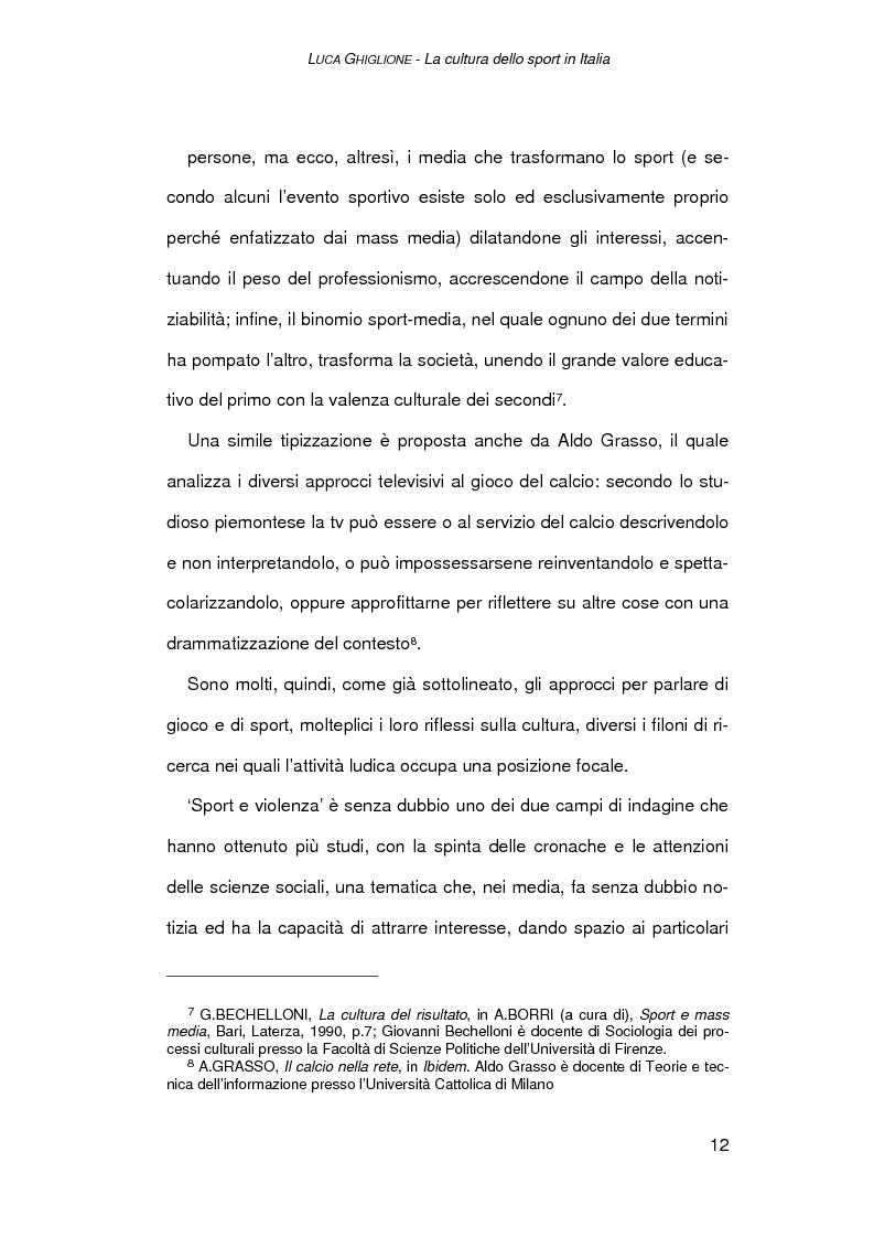 Anteprima della tesi: Il giornalismo sportivo a Genova, Pagina 10