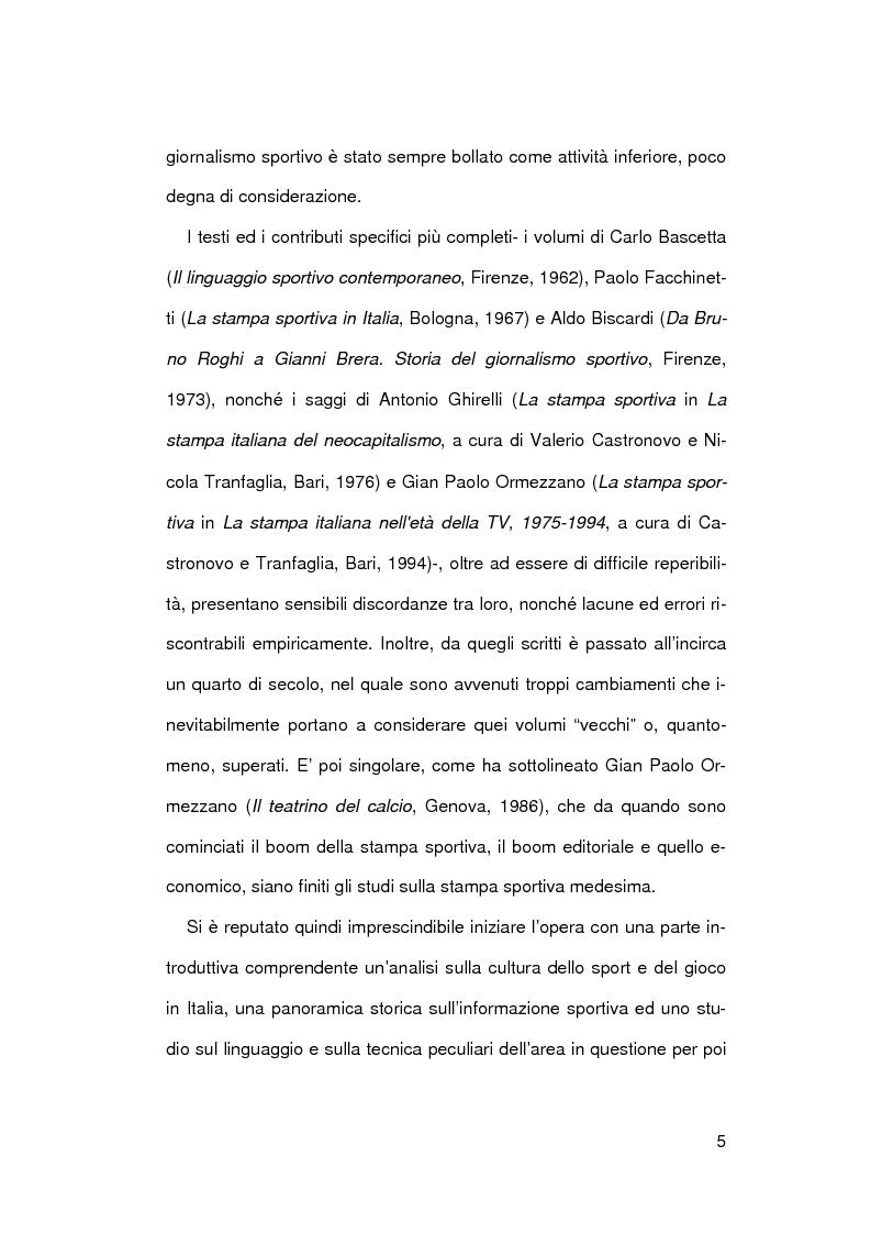 Anteprima della tesi: Il giornalismo sportivo a Genova, Pagina 2