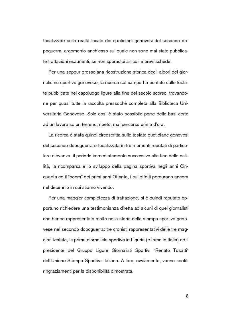 Anteprima della tesi: Il giornalismo sportivo a Genova, Pagina 3