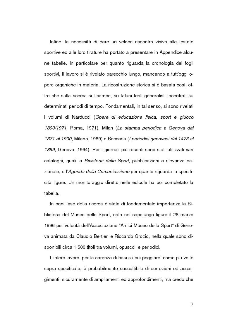 Anteprima della tesi: Il giornalismo sportivo a Genova, Pagina 4