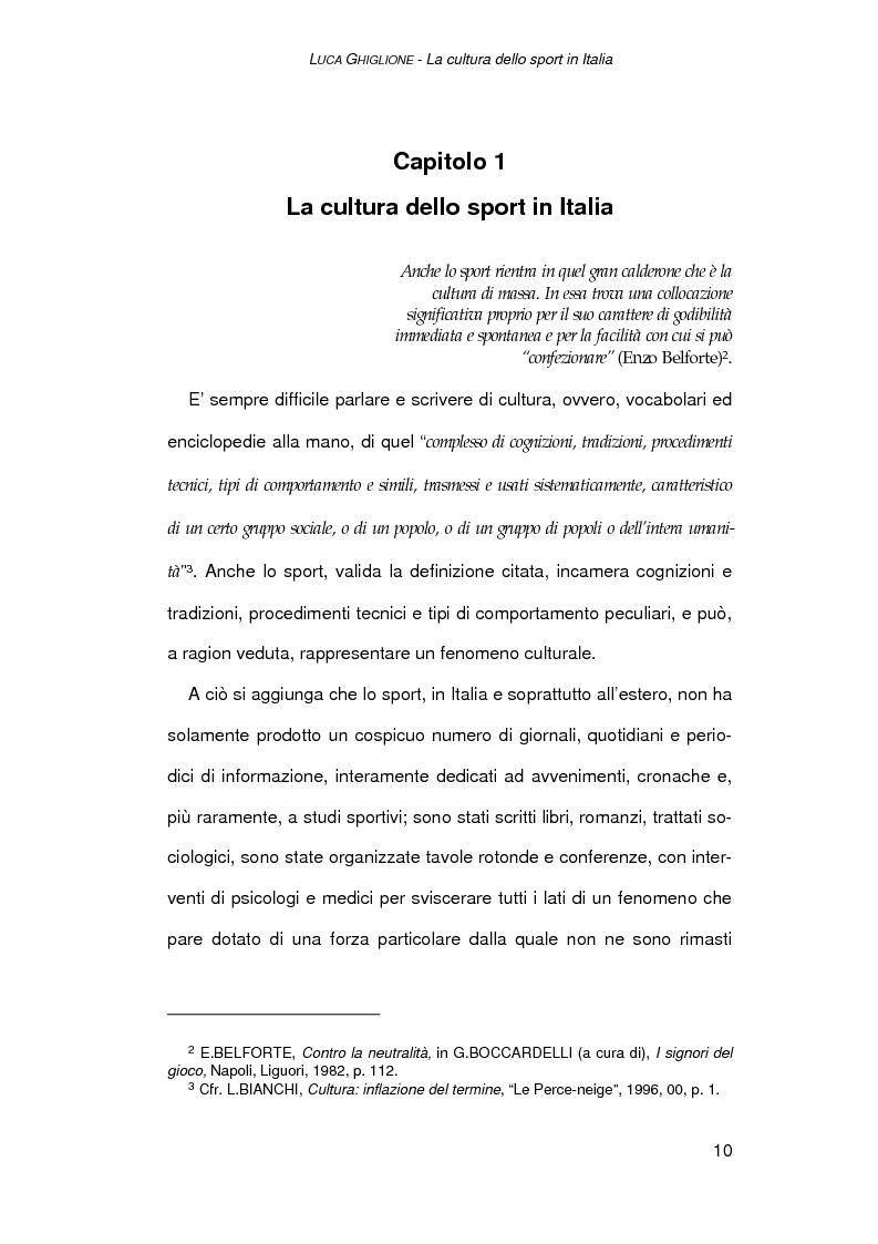 Anteprima della tesi: Il giornalismo sportivo a Genova, Pagina 8
