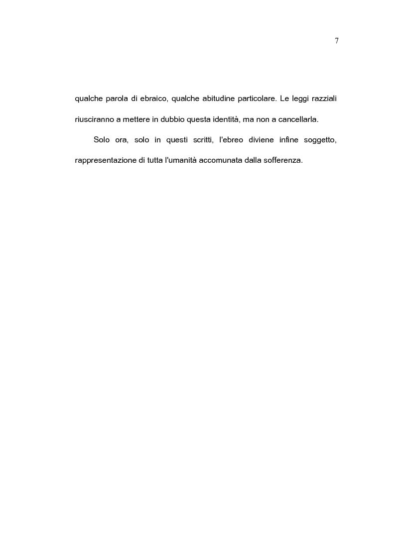 Anteprima della tesi: L'immagine letteraria dell'ebreo: da ''oggetto'' a ''soggetto'', Pagina 5