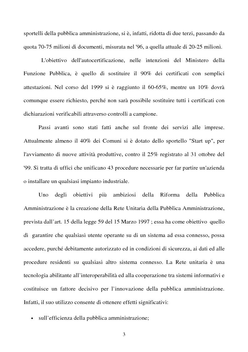 Anteprima della tesi: Il rapporto tra cittadino e pubblica amministrazione tra crisi e riforma. Il caso dell'U.R.P. del Comune di Padova, Pagina 3