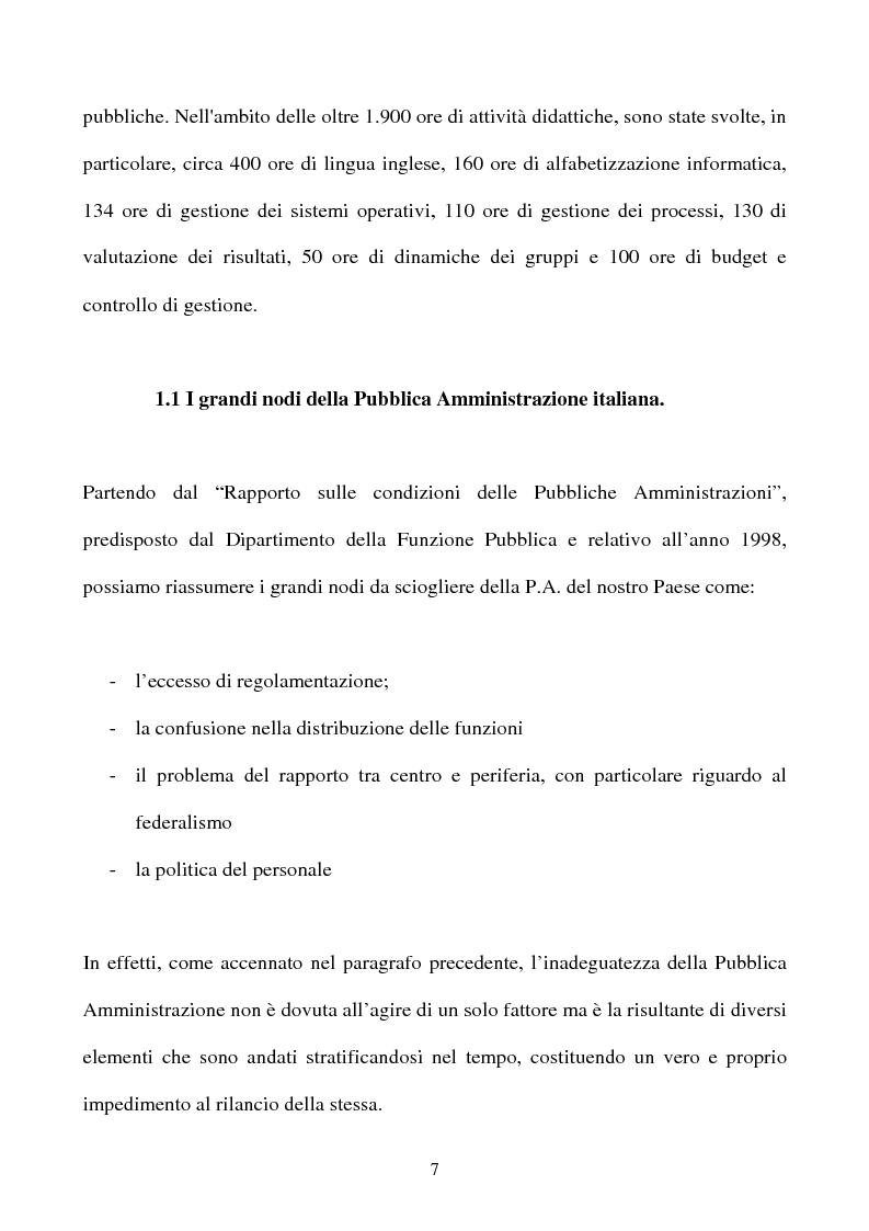 Anteprima della tesi: Il rapporto tra cittadino e pubblica amministrazione tra crisi e riforma. Il caso dell'U.R.P. del Comune di Padova, Pagina 7